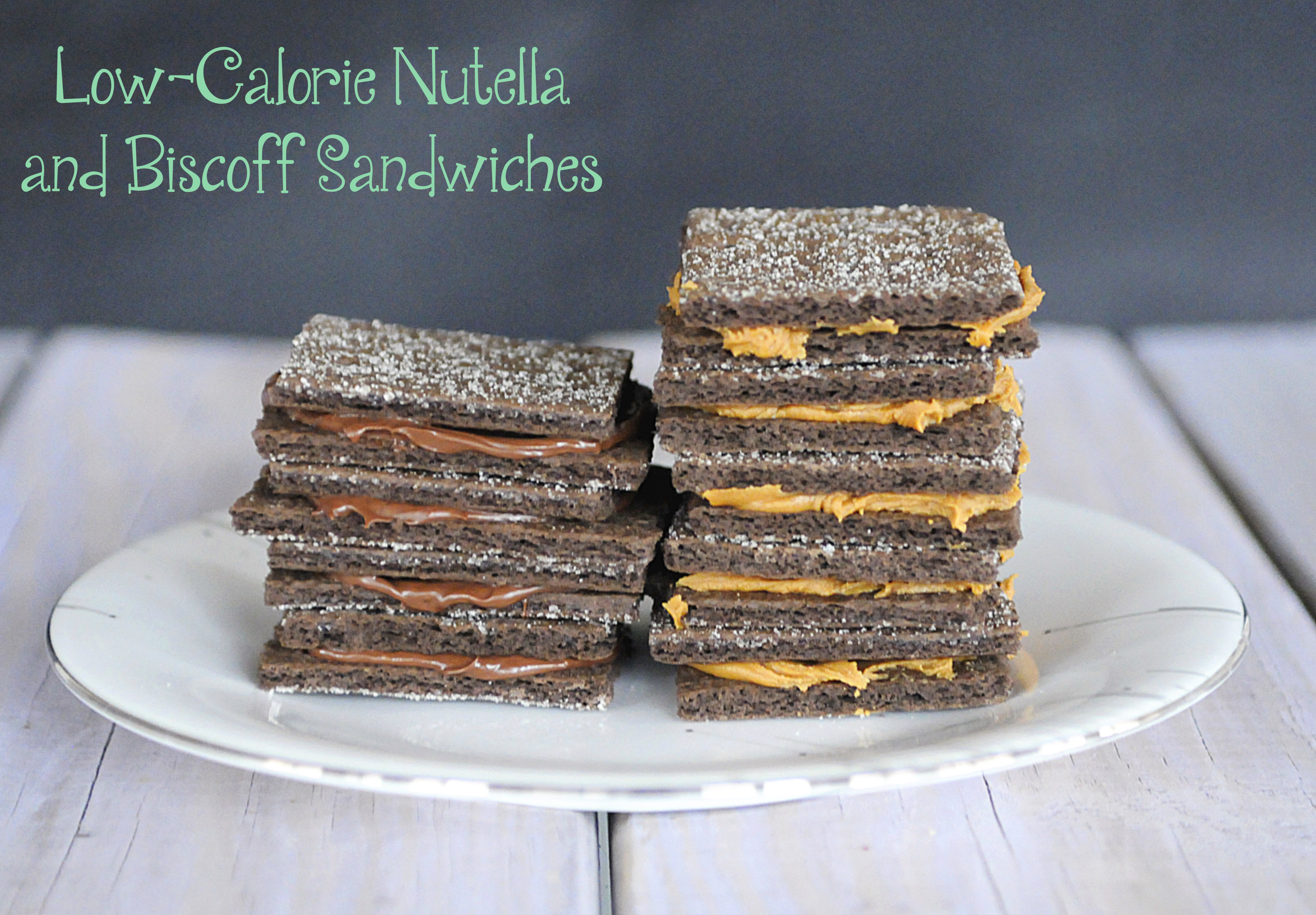 Low-Calorie Nutella and Biscoff Sandwiches