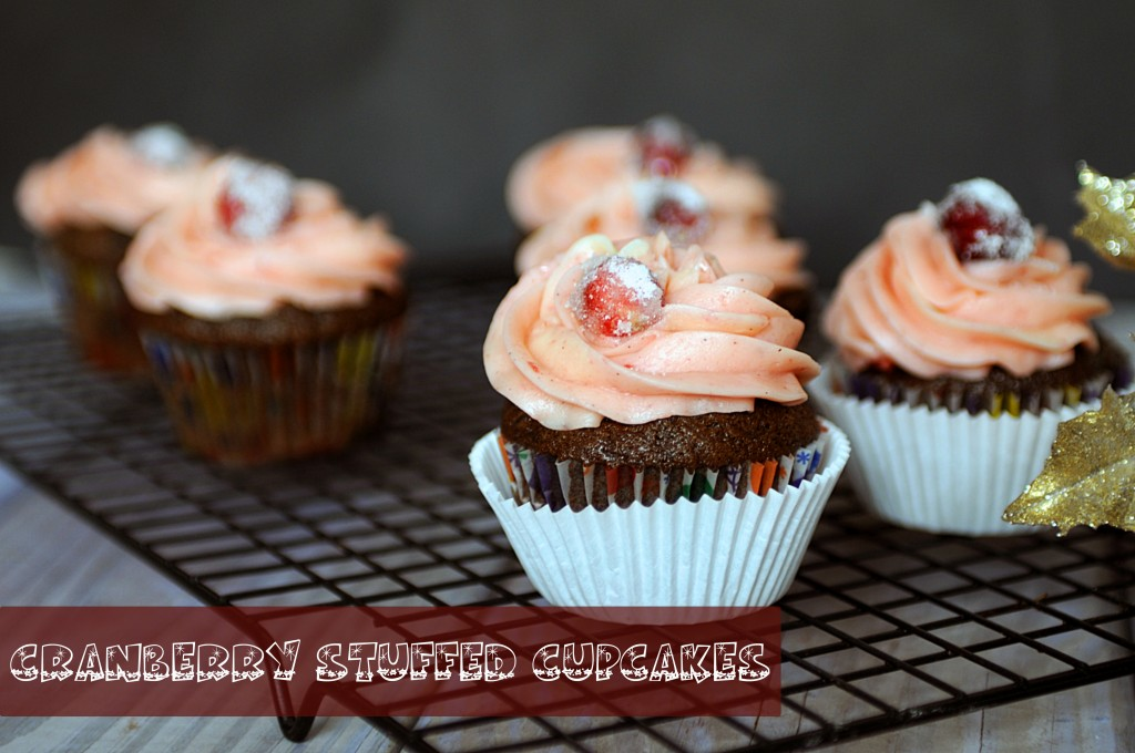 Cranberry Stuffed Cupcakes