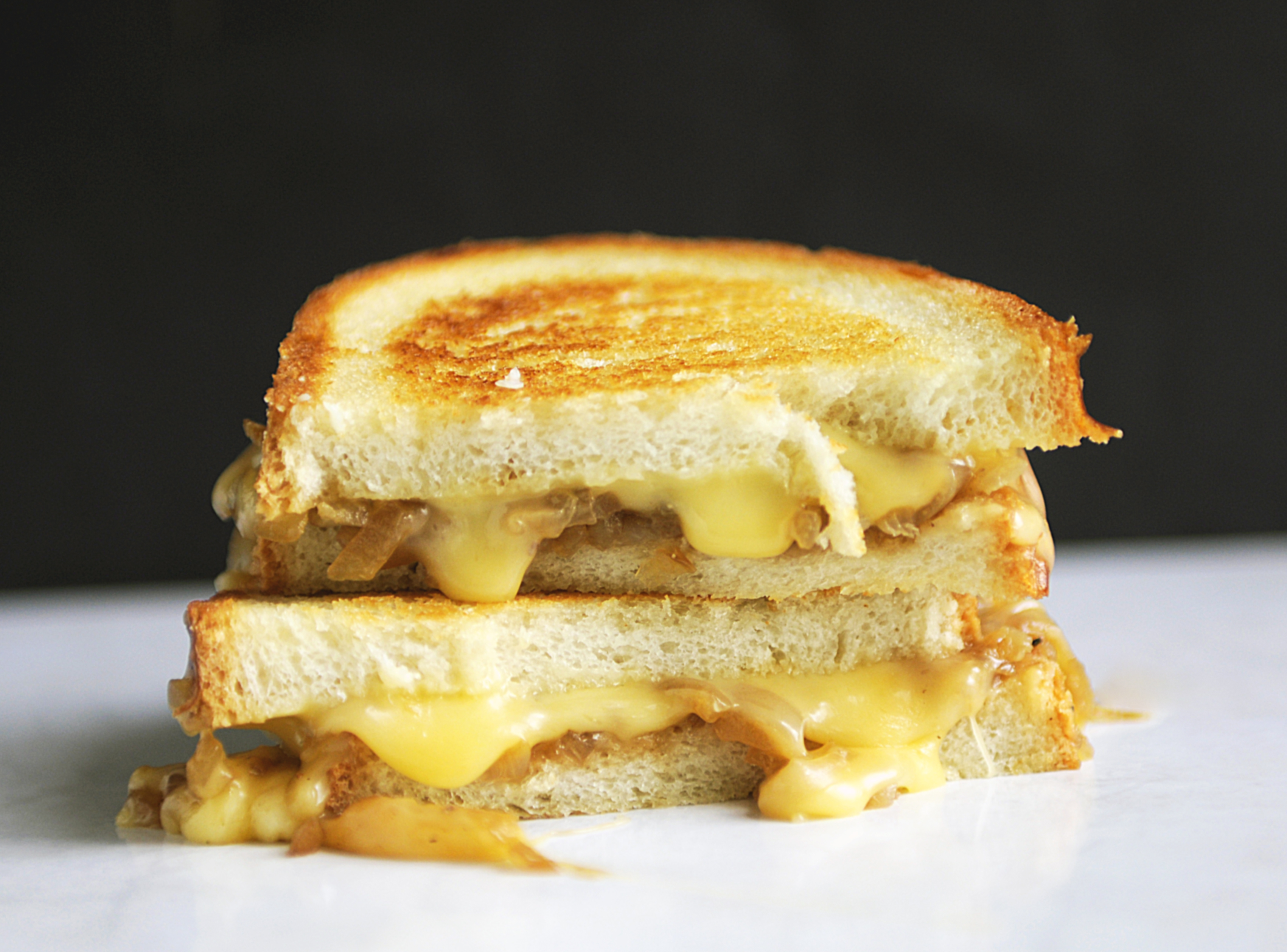 Gooey Gouda and Caramelized Onion Grilled Cheese