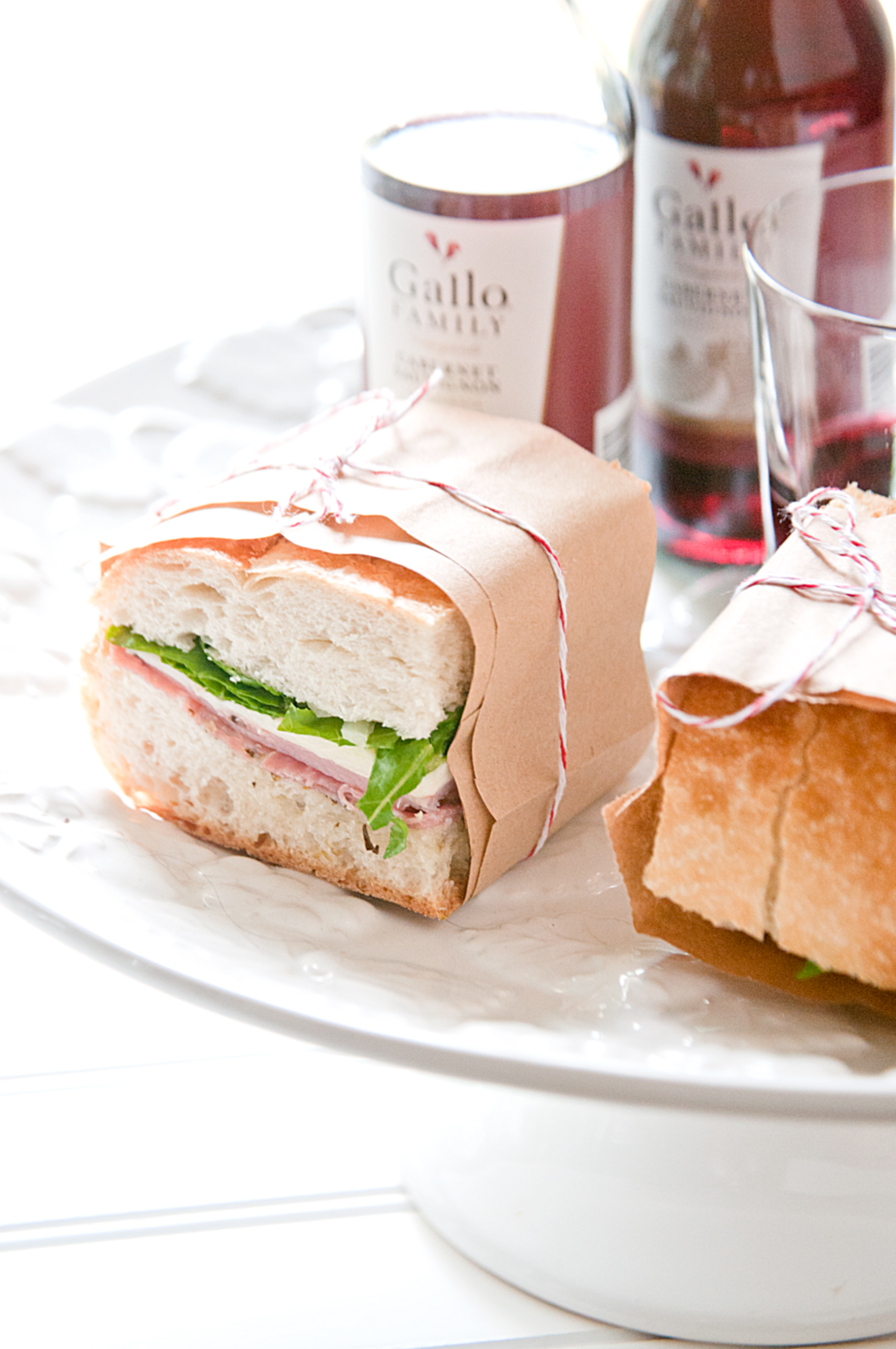 Italian Hoagie Style Pressed Picnic Sandwiches