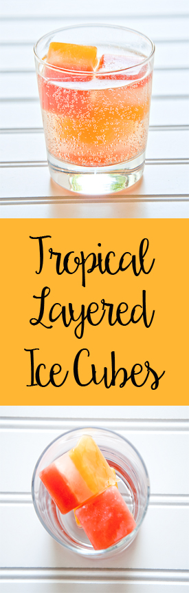 Tropical Layered Ice Cubes